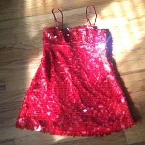 NEW Coral Sequin Dress